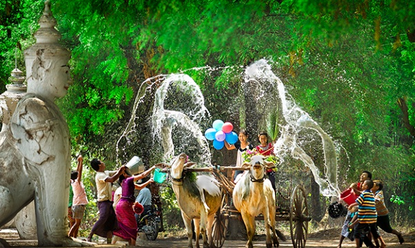 New Year in Myanmar is a water festival