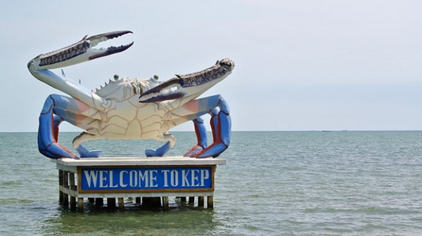 A famous symbol in Kep city