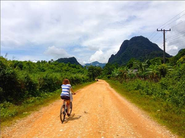 Ride a bike in Laos