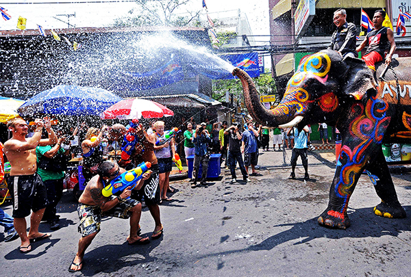 Everyone was excited in Songkran Festival, Thailand