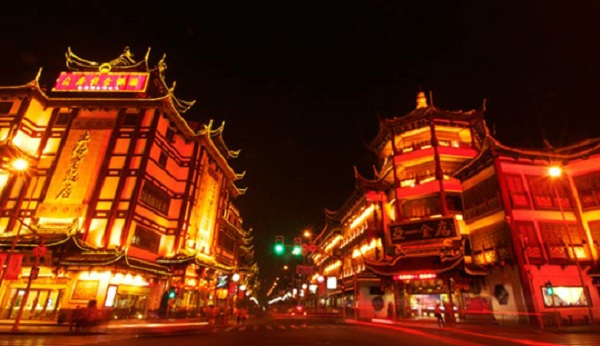 A beautiful street in Chinatown
