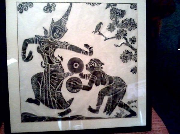 Rice paper print