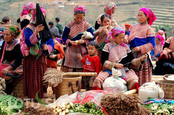 Ethnic people in Sapa