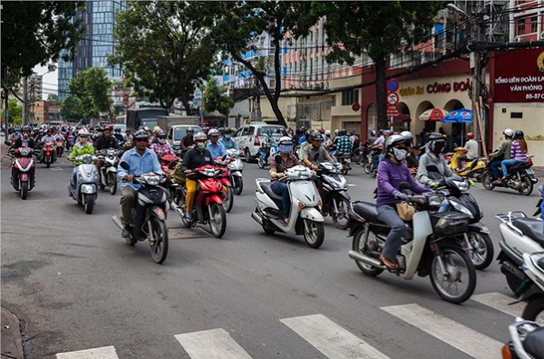 Motorbike is the most popular means of transport in Vietnam
