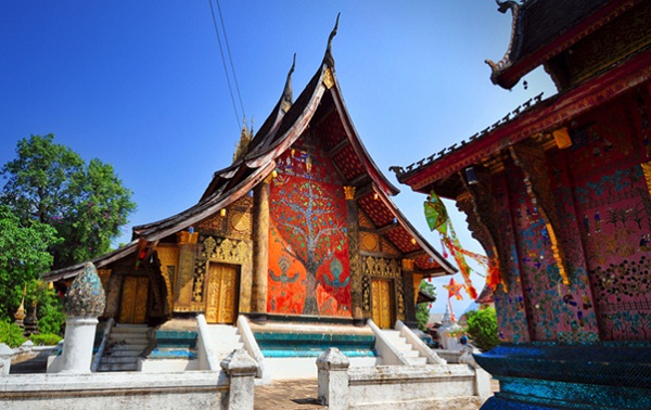 Beautiful temple in Luang Prabang