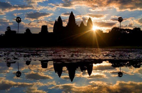 Beauty of Angkor at the early morning