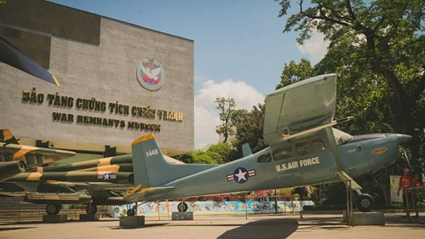 Tanks, aircraft and weapons are displayed outside the museum