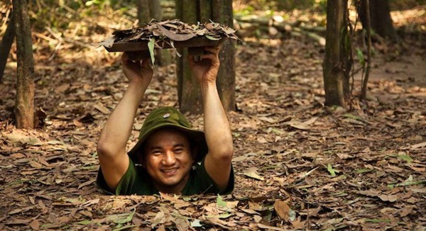 The man tried to fit in at Cu Chi Tunnels