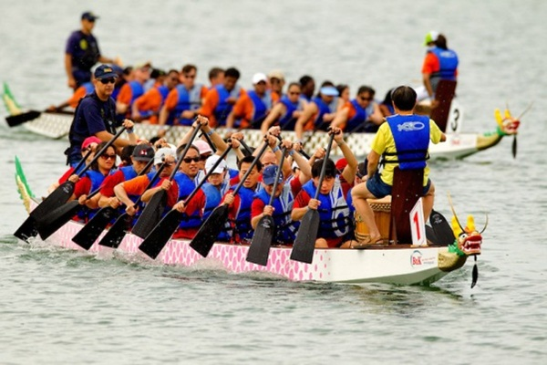 Boat racing is a local festival that takes place every year all around the country during September and October