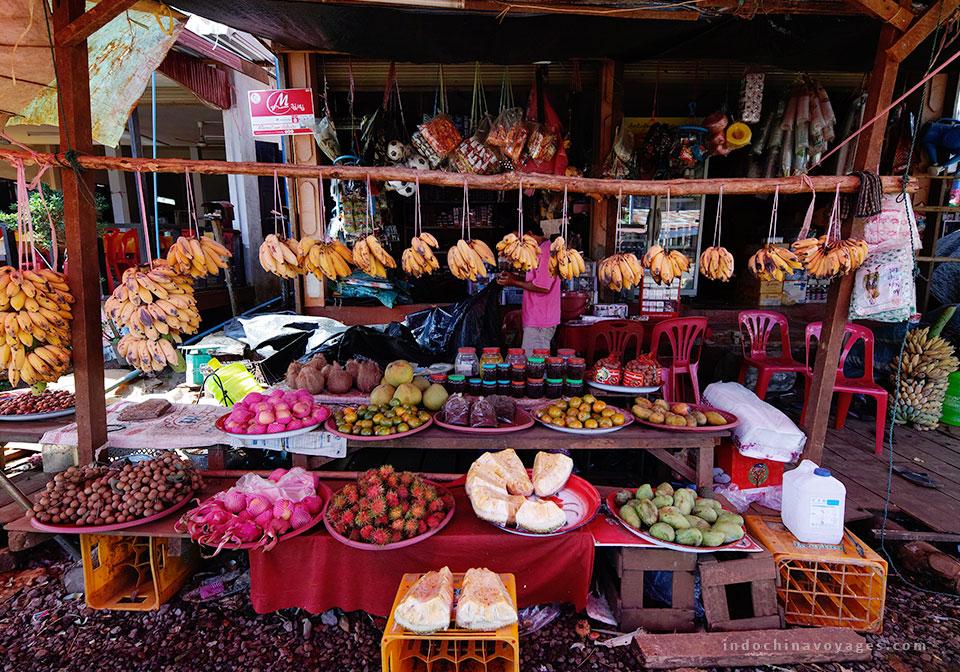 market in Vientiane