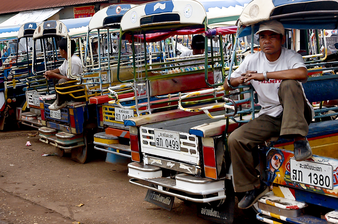 Do not worry if you can't get taxi. You have tuk tuk in Laos