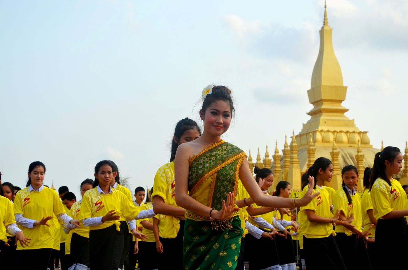 Local people in classical Lam Vong dance
