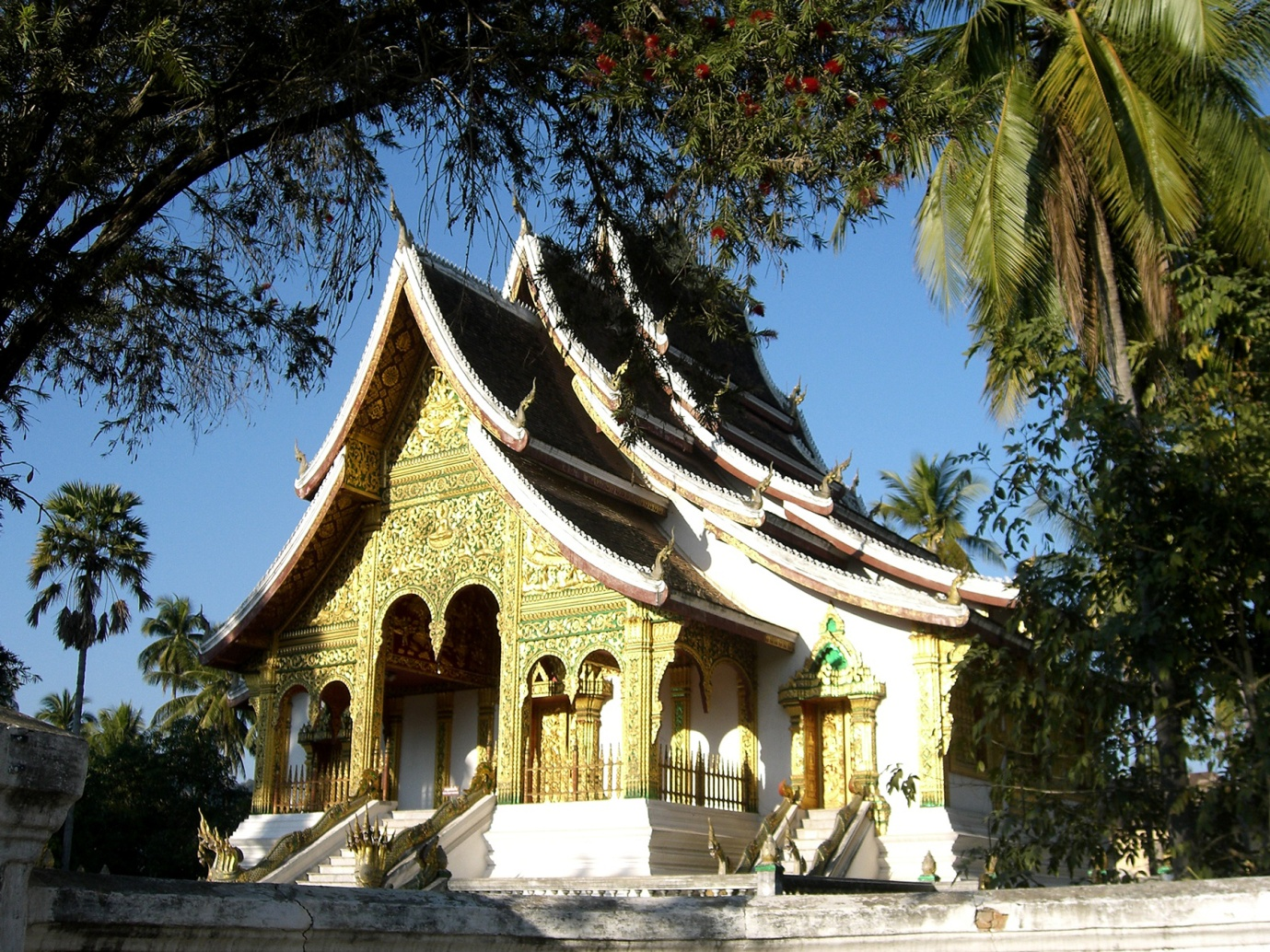 The beauty of temple in Luang Prabang