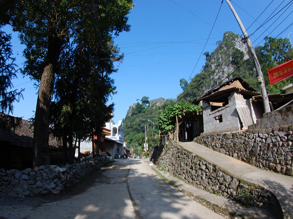 A corner of the ancient street in Dong Van plateau