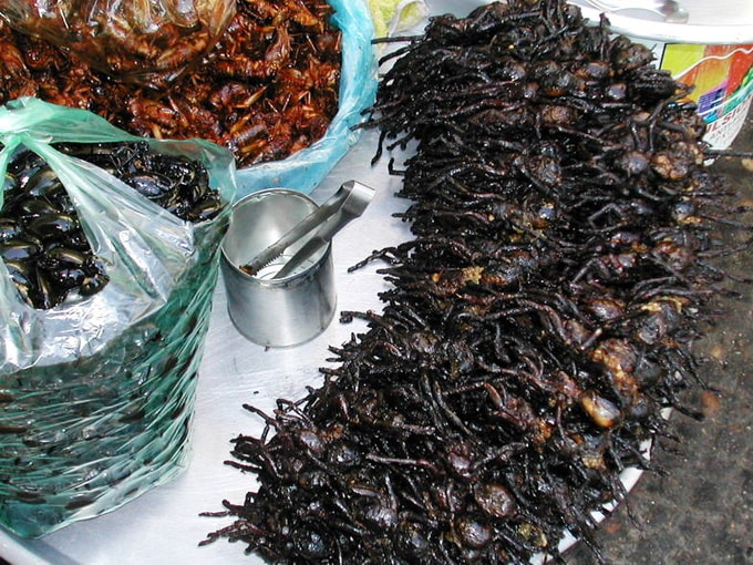 Fried black spiders dish in Siem Reap brings surprise to tourists
