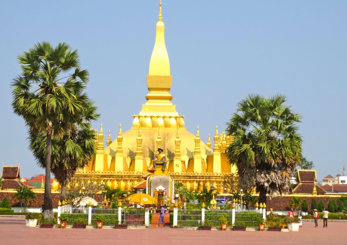 Pha That Luang symbol of Vientiane