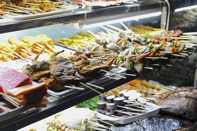 Skewer meats on Yangon's streets will certainly take your love