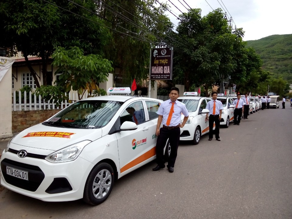 Sun taxi is the biggest taxi company in Quy Nhon