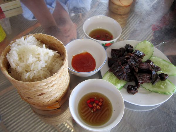 You can taste sticky rice on any streets of Laos