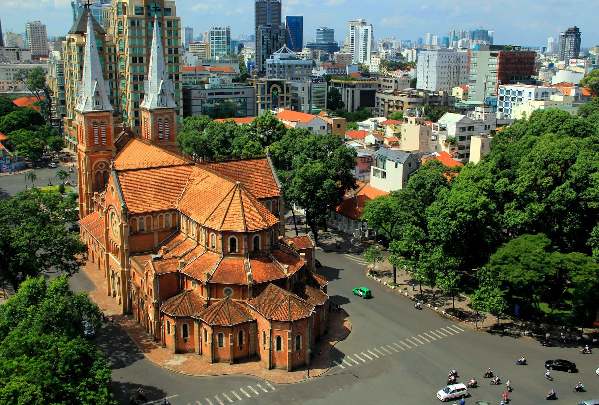Back of Saigon Notre-Dame Cathedral