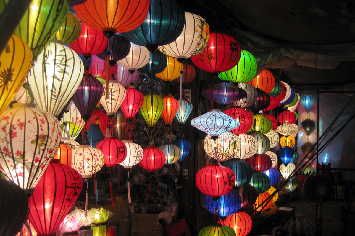 Colorful lanterns are made by talented artists in Hoi An