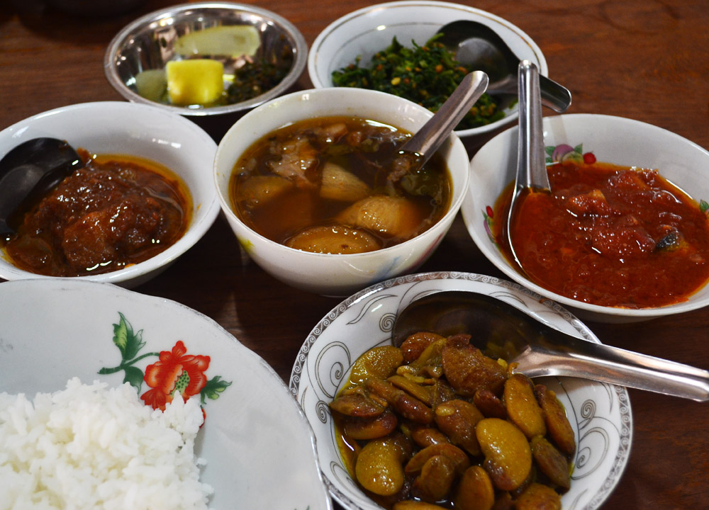 Myanmar food is influenced by Chinese and Indian cuisines