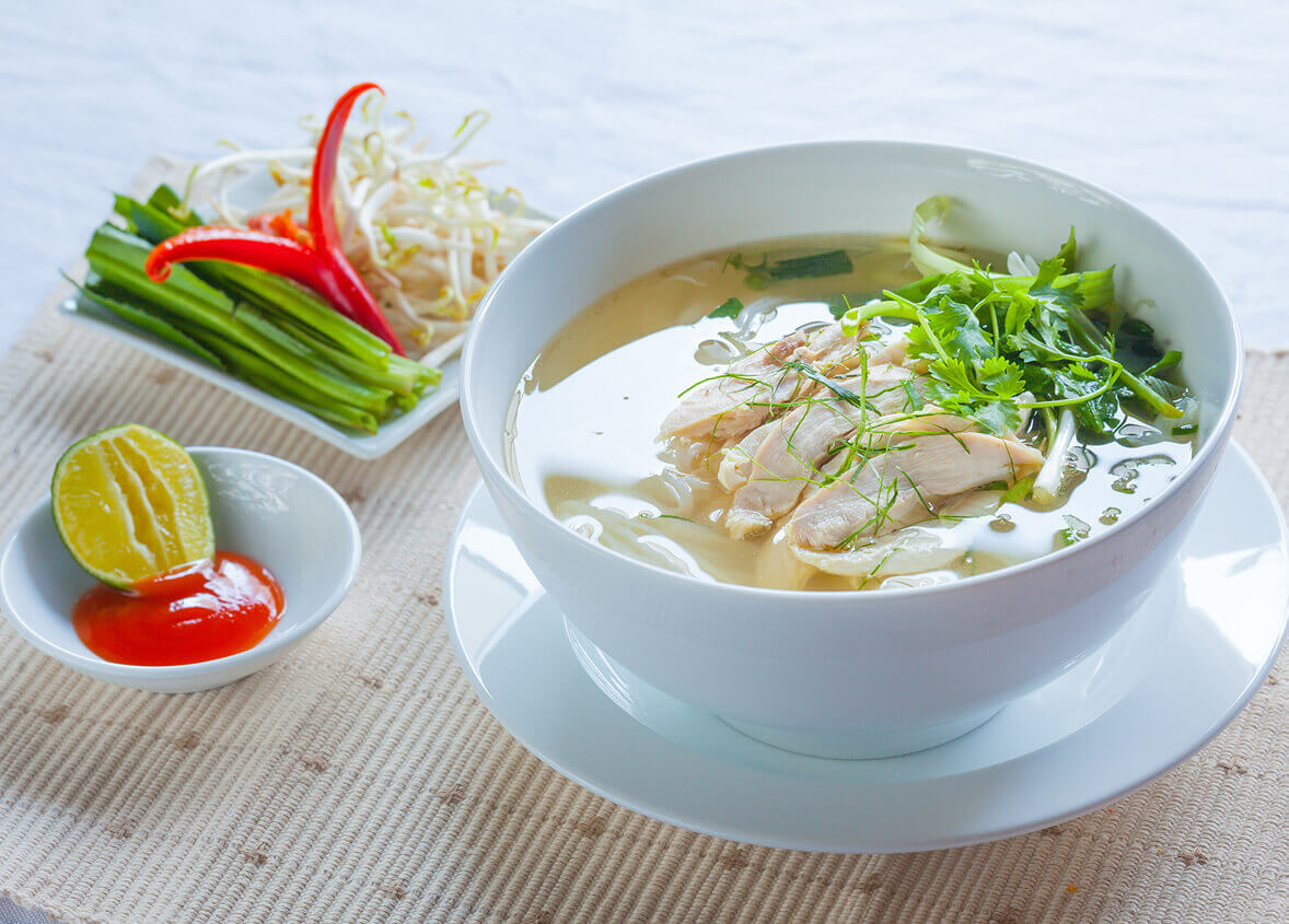 Pho Hanoi, a traditional dish of Vietnam