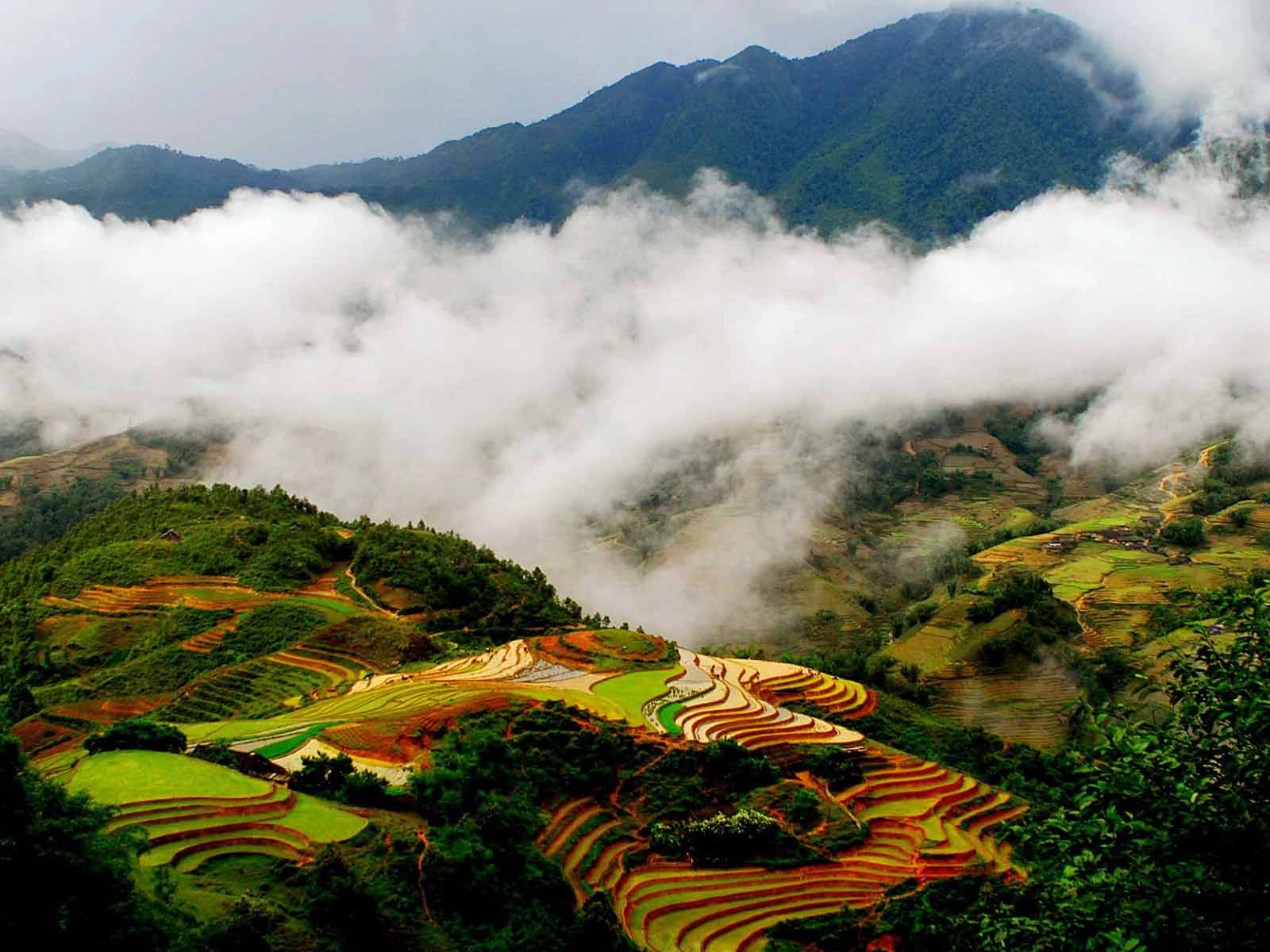 Sapa in January seen from above