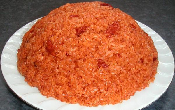 Tasty and heathy sticky rice with Gac fruit