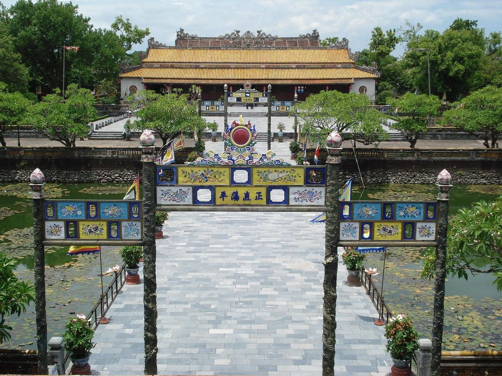 Thai Hoa Palace seen from above