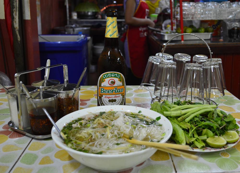 Vientiane's noodle soup