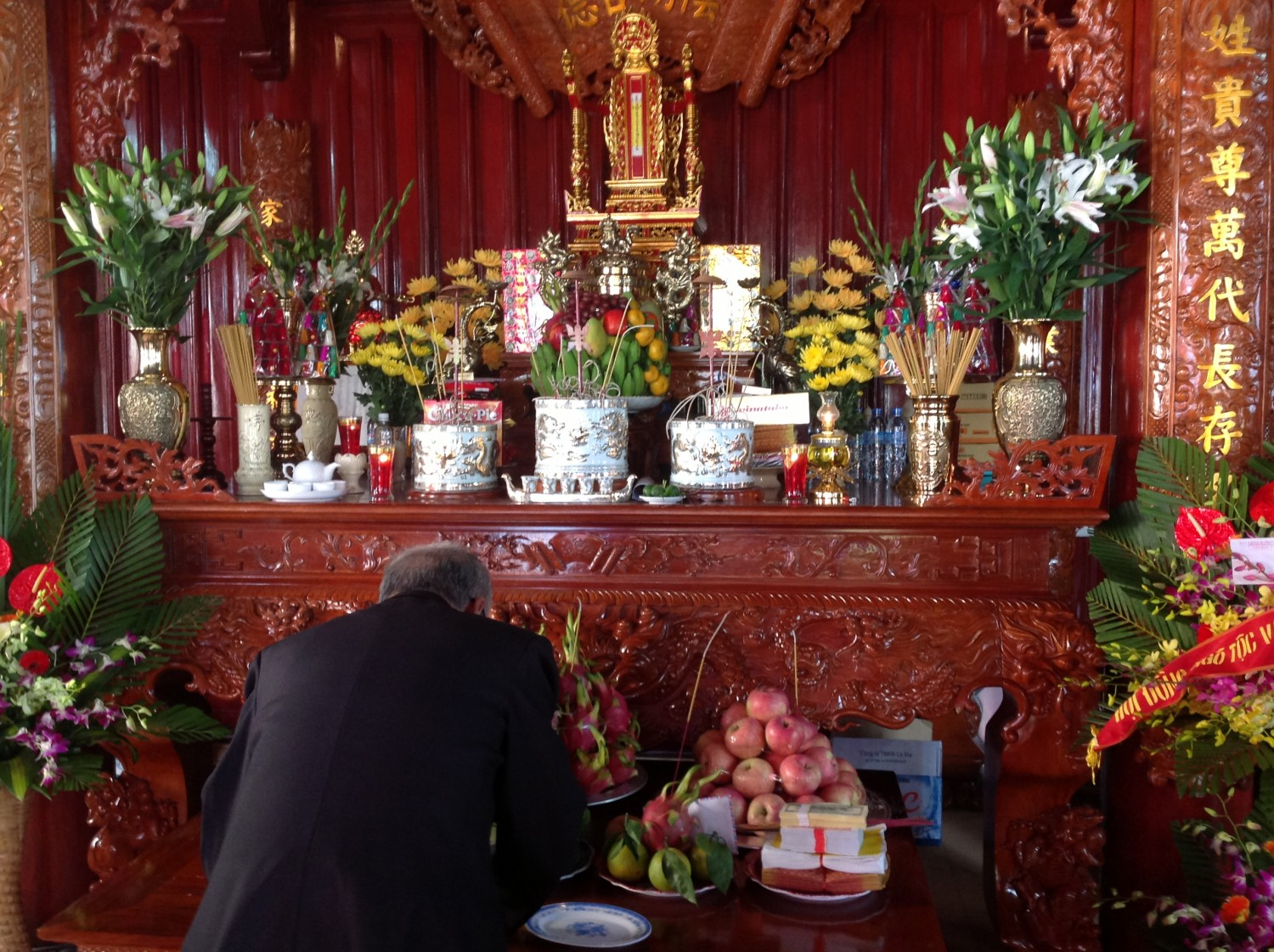 Ancestor alter of Vietnamese people at Tet