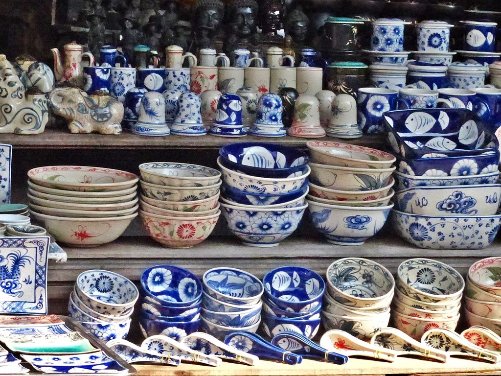 Glazed potteries may remind your time in Vietnam