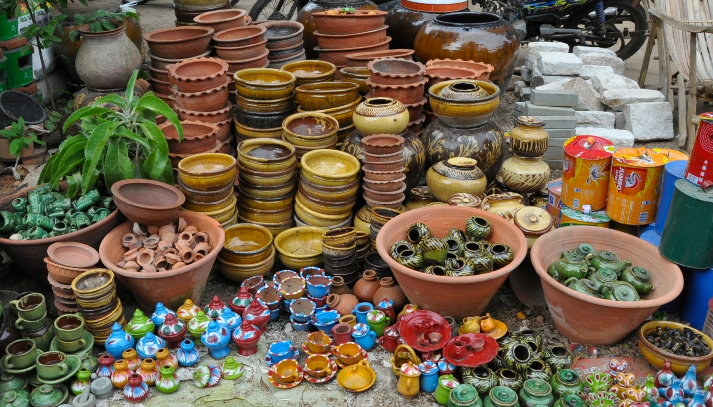 Local market in Bagan