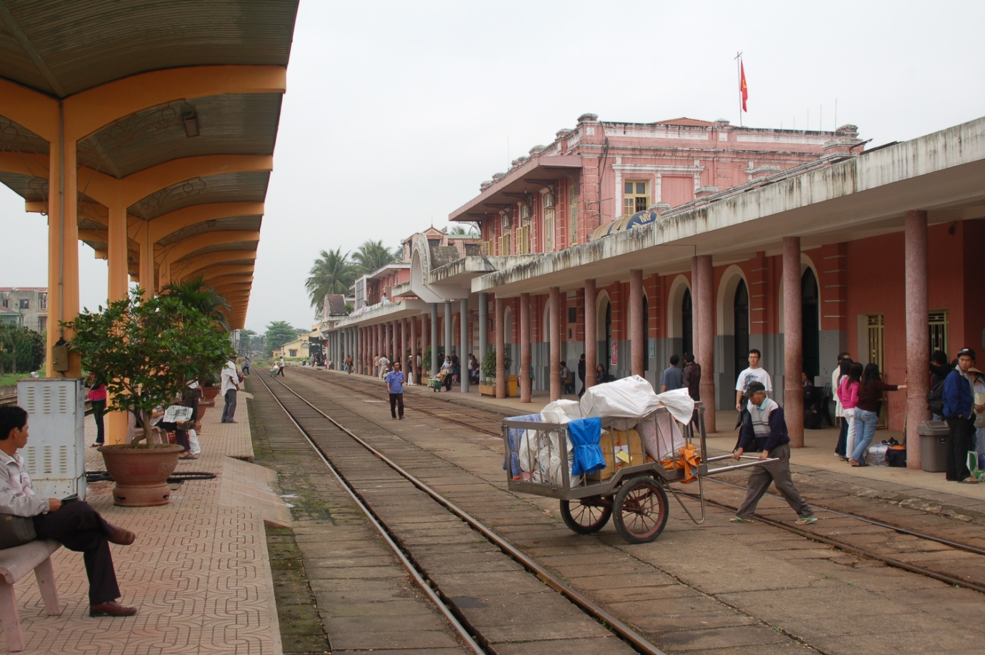 Train station in Vietnam