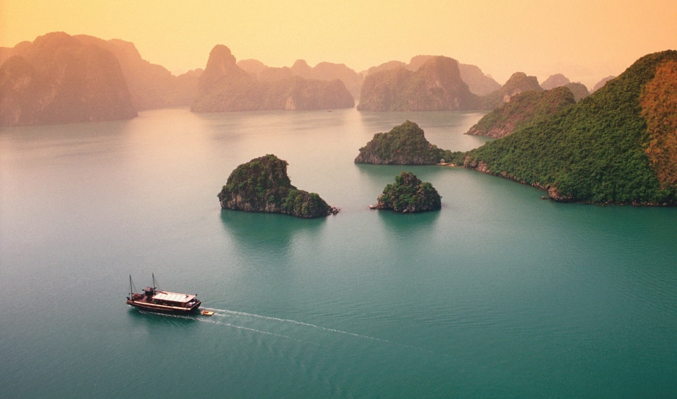 Halong Bay is one of top 7 natural wonders of the world recognized by UNESCO