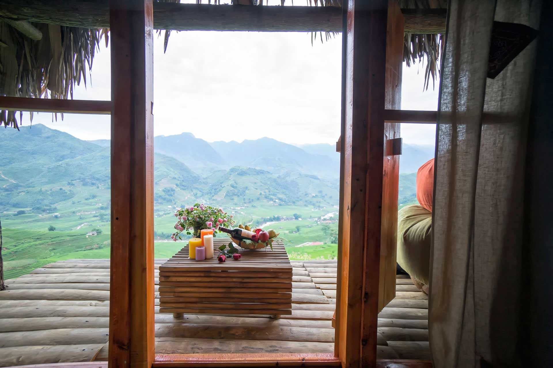 Good view to see magnificent mountains from Eco Palms House