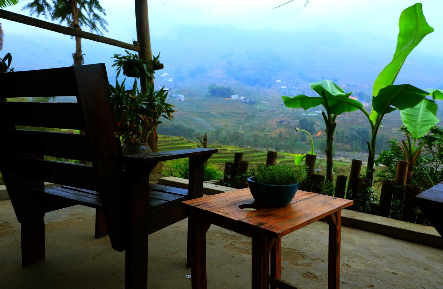 Seating in front of Sali House and having a cup of coffee is really wonderful