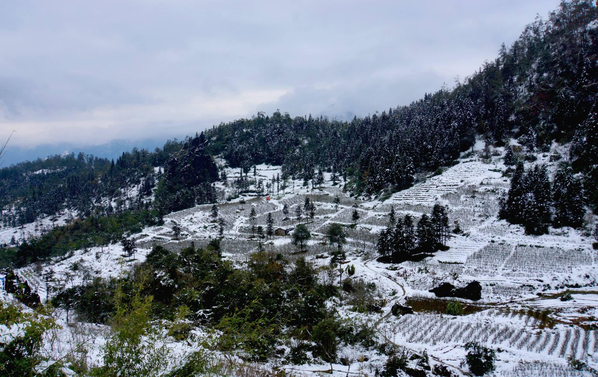The unique landscapes in Sapa in winter