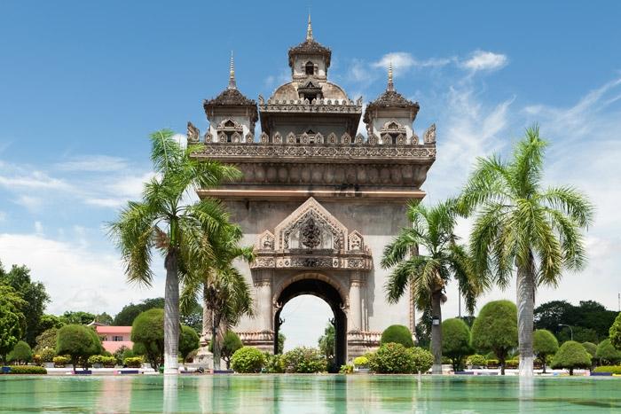 Patuxai temple in Vientiane