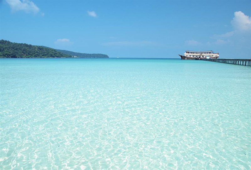 The beautiful Koh rong beach in Cambodia