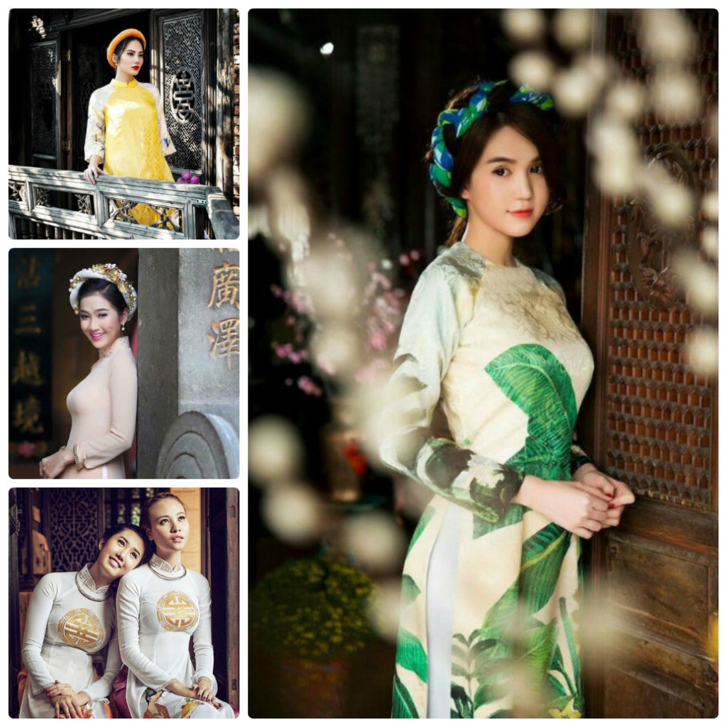The color and pattern of Ao Dai Vietnam is symbolic and unique