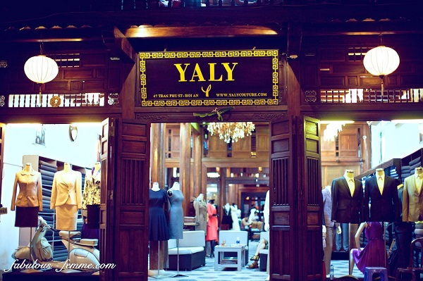 Yaly Couture sells the beautiful colors of Ao Dai in Hoian