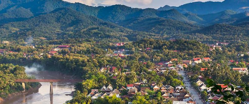 Beautiful Luang Prabang from above Beautiful Luang Prabang from above