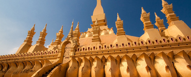 Pha That Luang, the golden Buddhist stupa in Laos