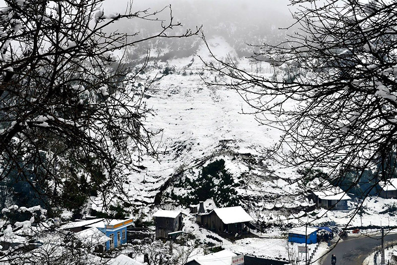 If you are lucky, you can visit Sapa when it snows