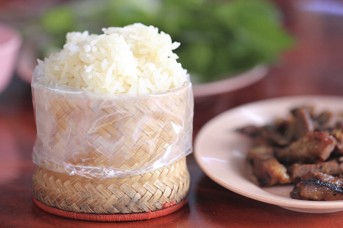 Laotian sticky rice, the specialty of Laos