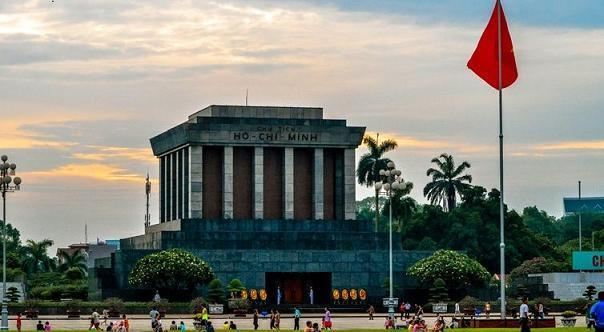 Ho Chi Minh mausoleum located in HCM complex