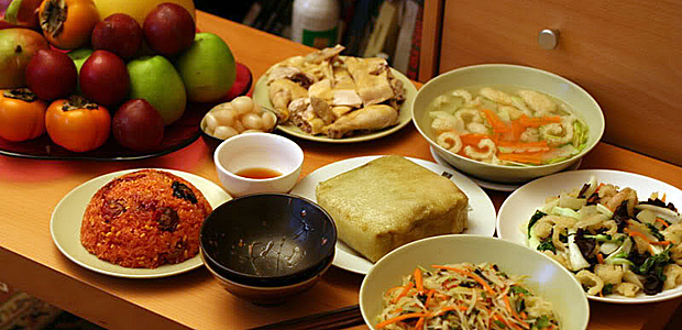 In the central, a typical meal in Tet holiday does not include shrimp
