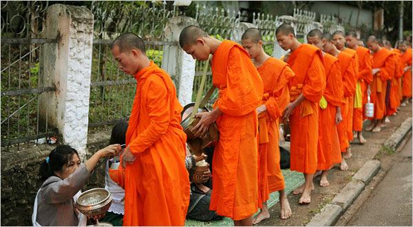 Munke in Luang Prabang